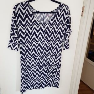 Lilly Pulitzer Dress Navy and White Zigzag